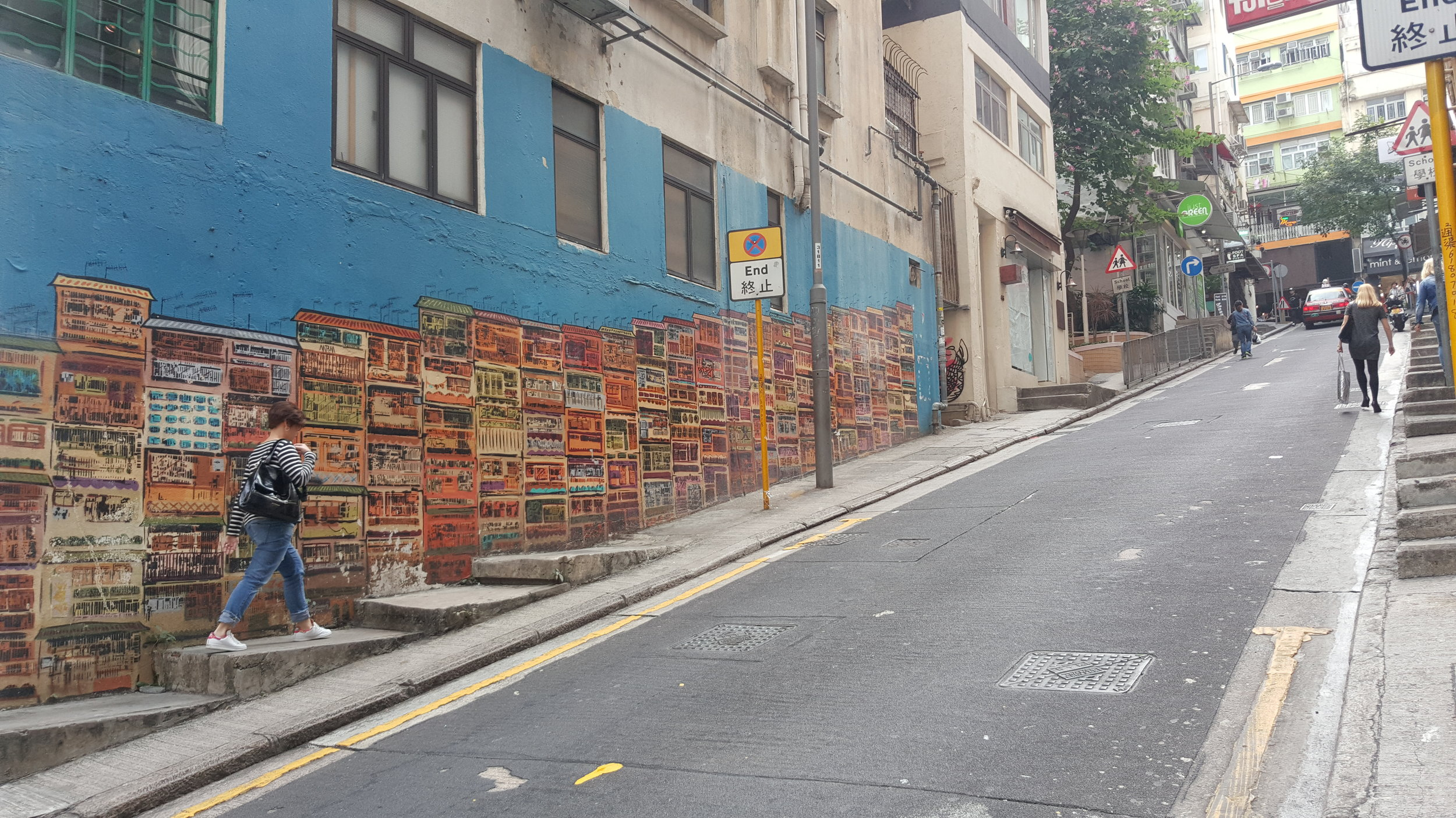 One of the more popular street arts in Sheung Wan