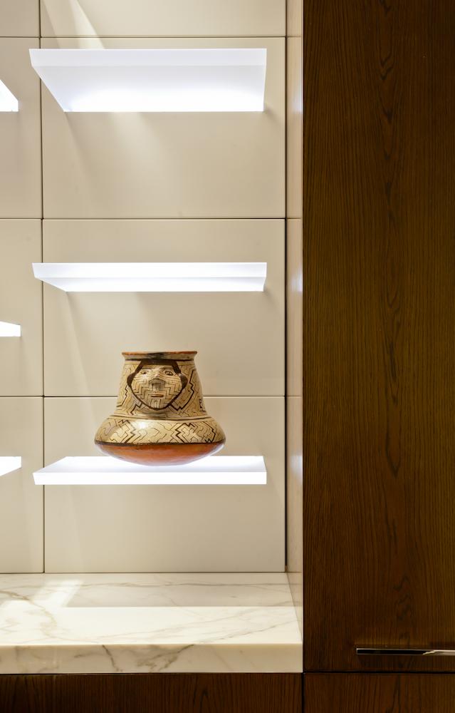 Rina Cohen Interiors, RCI Designs, Interior Design, Illuminated shelving