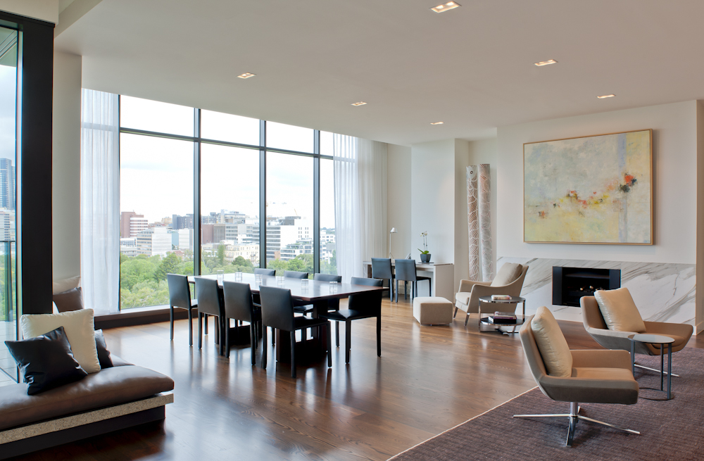 Rina Cohen Interiors, RCI Designs, Interior Design,Dining Room with fireplace