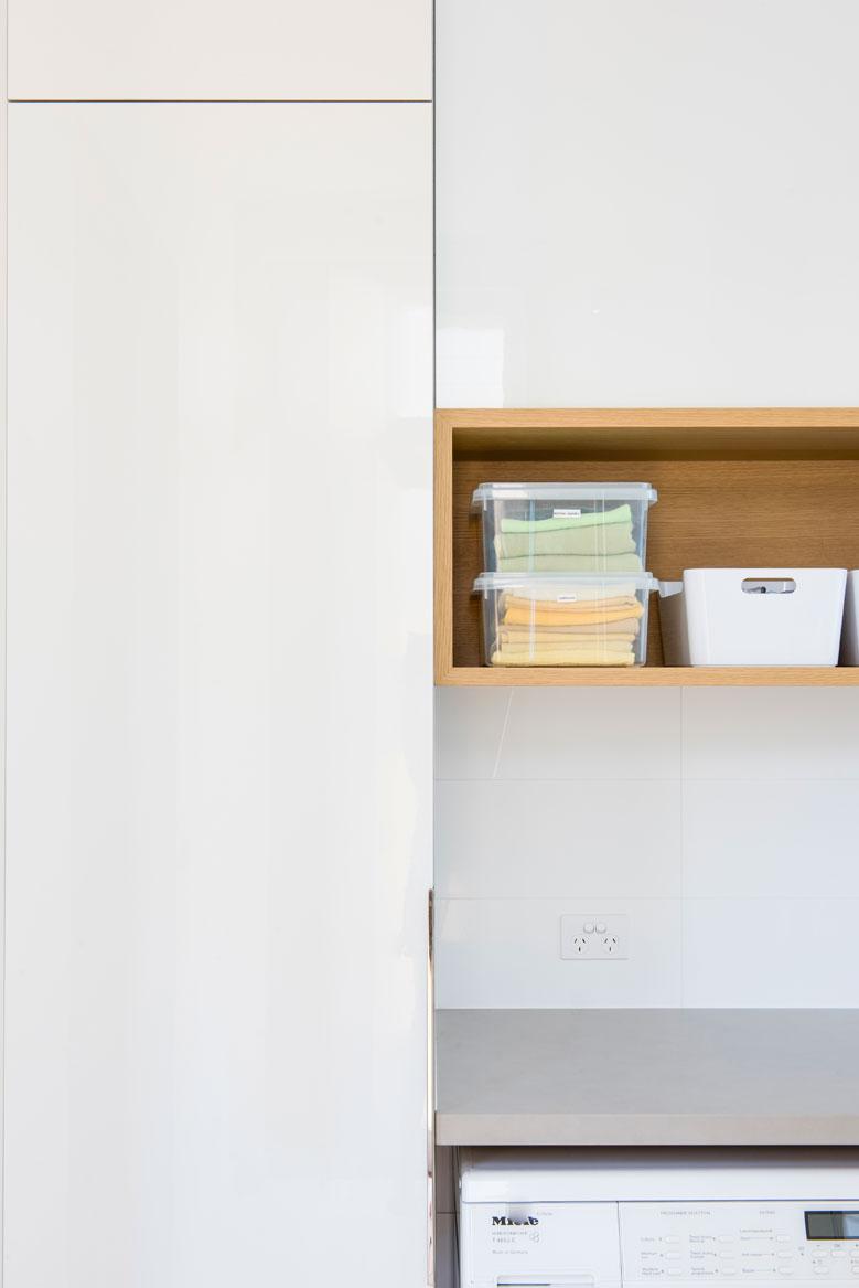 Rina Cohen Interiors, RCI Designs, Interior Design,Laundry Shelf Store St Kilda