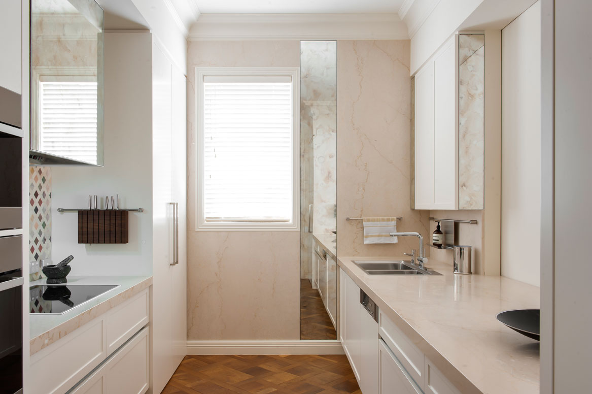 Rina Cohen Interiors, RCI Designs, Interior Design, Galley Kitchen Toorak