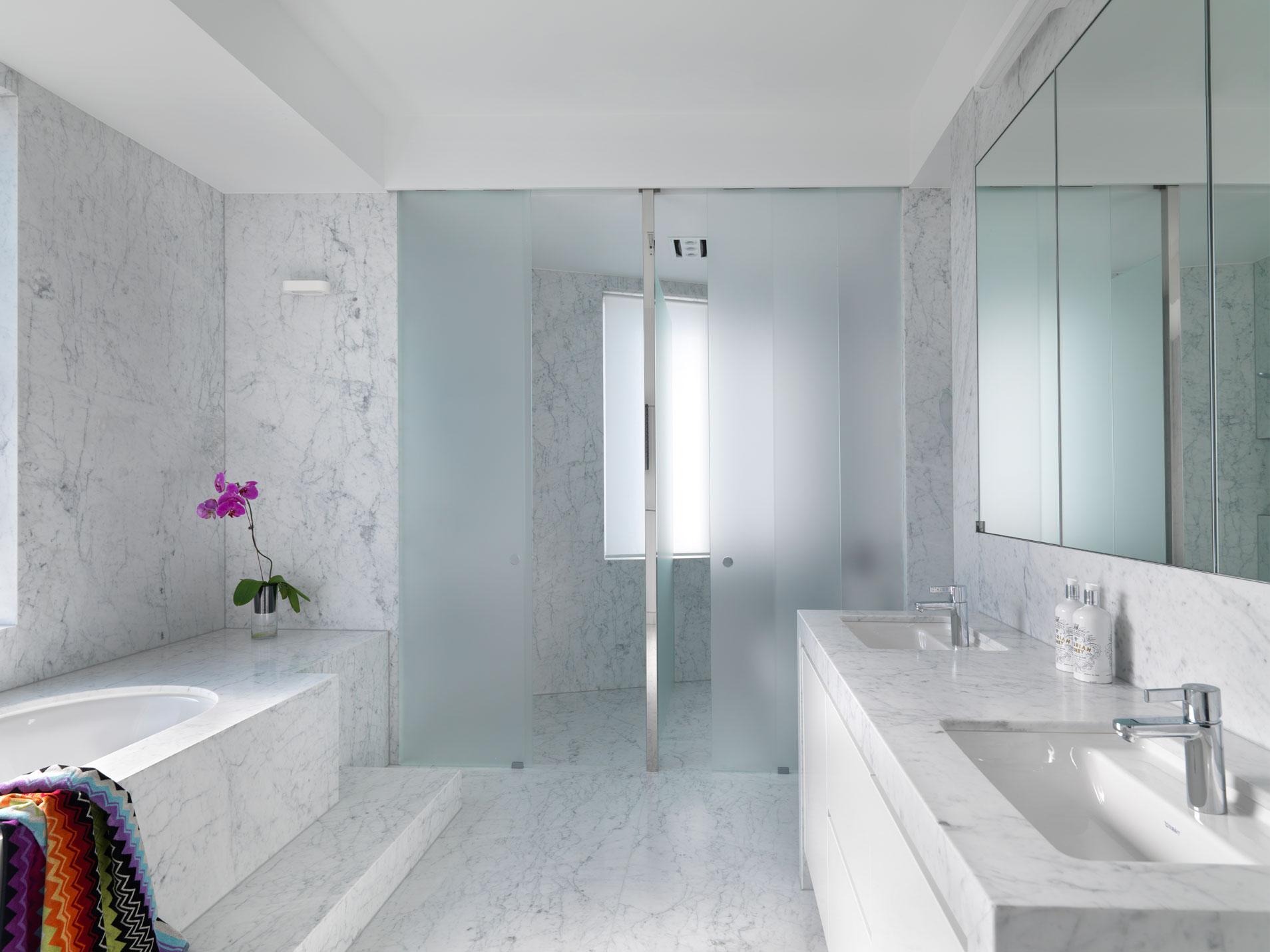 Rina Cohen Interiors RCI Designs CI Designs Master Ensuite Bathroom marble