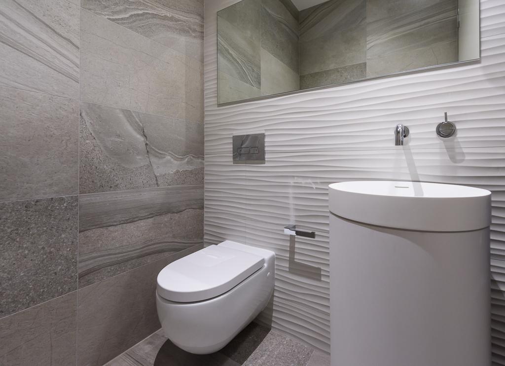 Omvivo Basin Powder Room RCI DEsigns - Rina Cohen Interiors