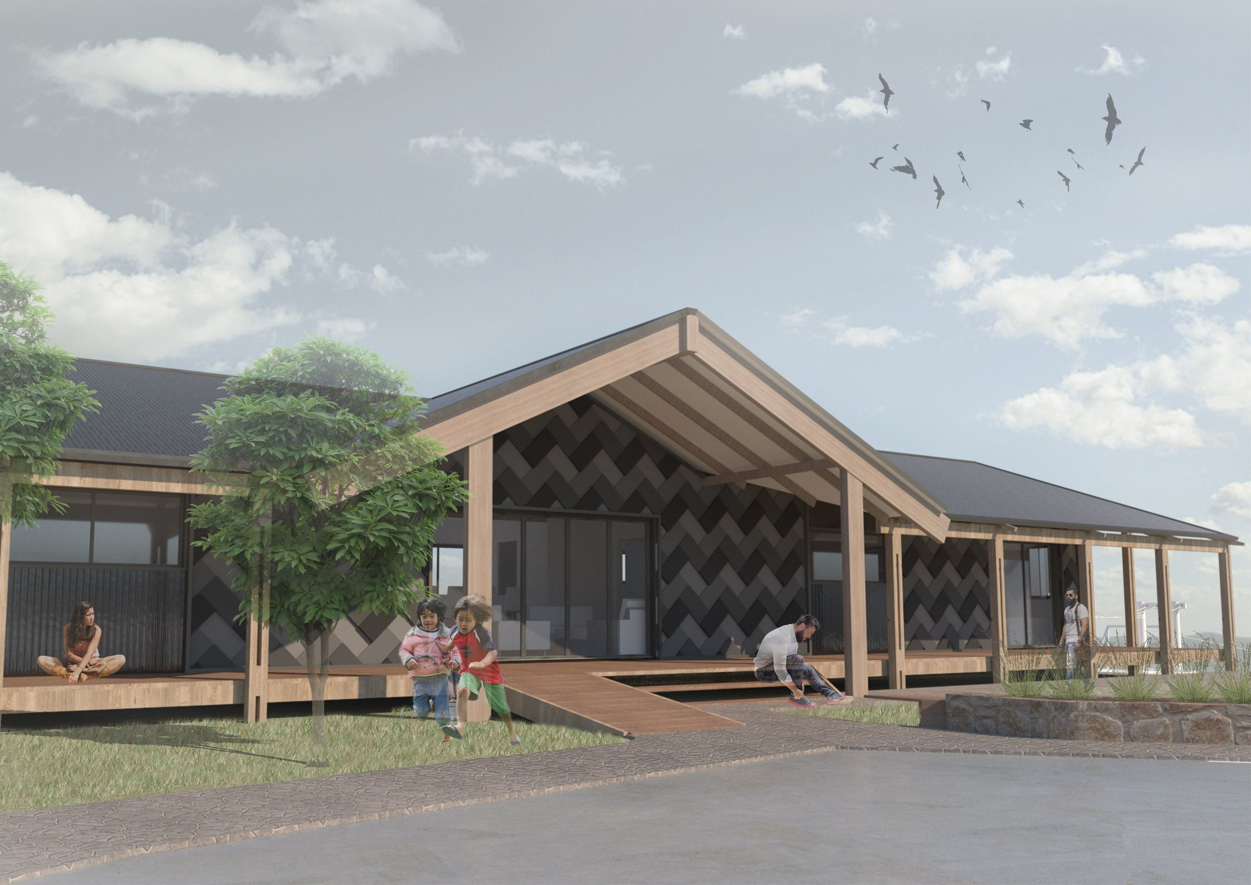 Community Partners:   Ngaa Kaitiaki o Ihumaatao Charitable Trust, ME Family Services  We are currently working with three whaanau (families) with to create housing solutions in the Ihumaatao papakainga (community).  We are producing feasibility studies, concept and developed design packages, and working closely with contractors to produce practical outcomes.