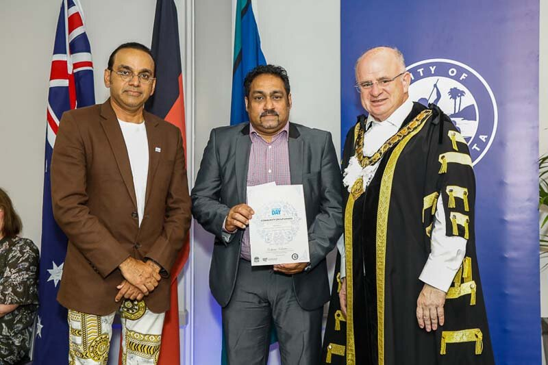 receiving a highly commended award at 2019 city of parramatta australia day awards -