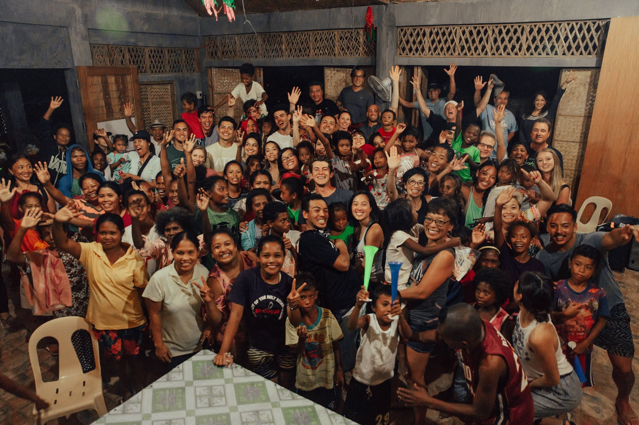 We fed the Ati Village a New Year's Eve dinner - kamay style (eating with your hands)
