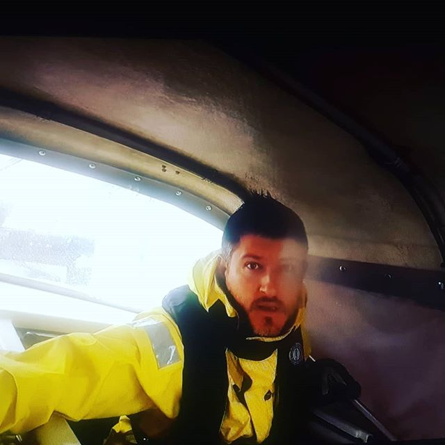 This is the look your co-captain gives you when you tell him it's time to drop the main and he's gotta go on decks in 40 knots and breaking waves to get the lazy jacks out. 🌬⛵ Check out our highlights 📽 link in bio! .  Our first sail of the year was a 4 day offshore passage to the South Island, New Zealand. We got an introduction to the Tasman Sea and an induction to the Cook Strait. .  Gusts to 40 knots. 3-4 meter swell forward of the beam. Type 2 fun. .  #sail #sailing #sailor #sailingboats #sailinglife #sailingtheworld #boating #boats #boatlife #offshore #offshoresailing #travel #travellife #travelgram #instatravel #extreme #ocean #highlatitudesailing