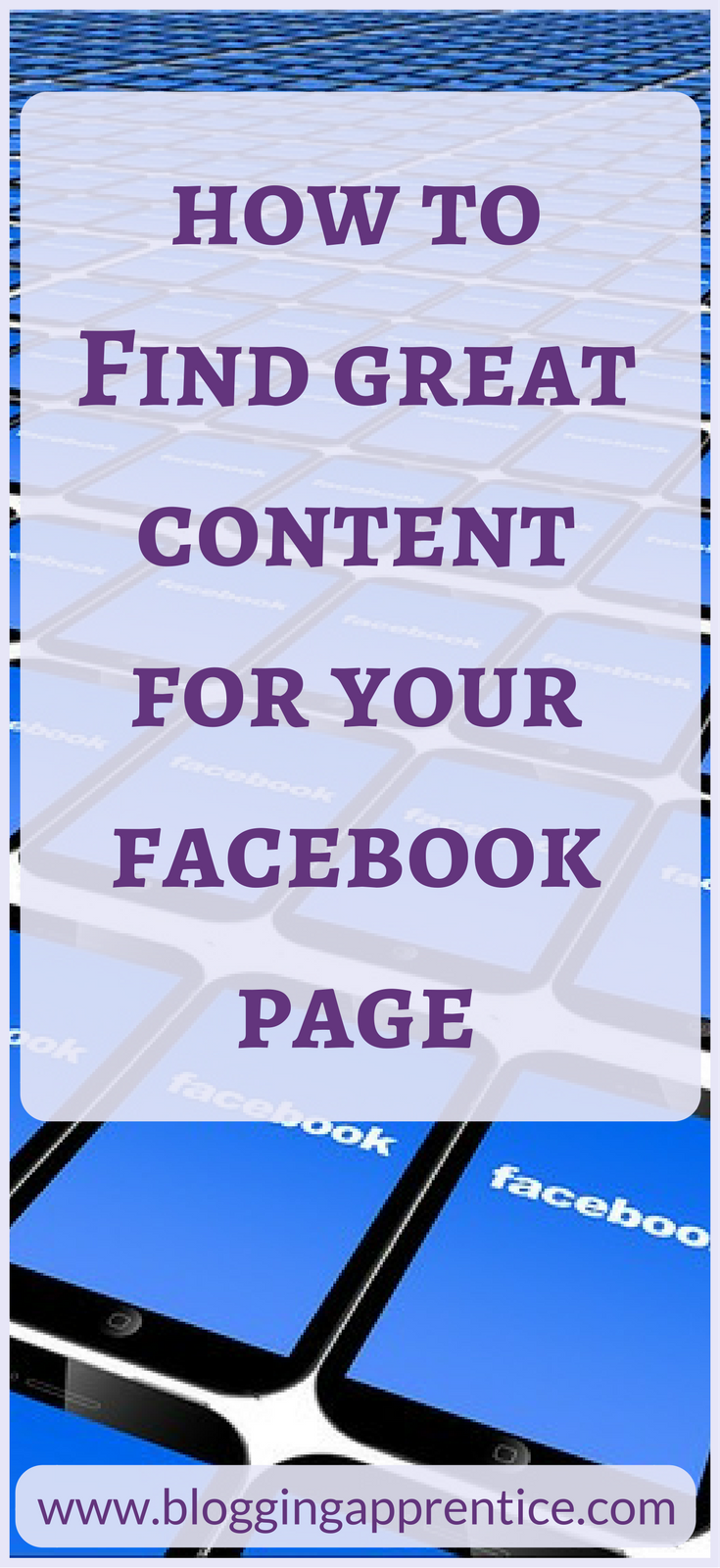 To build and grow your Facebook page, it's important to post great content... here are a few tips on what to post, and where to source it! On bloggingapprentice.com.