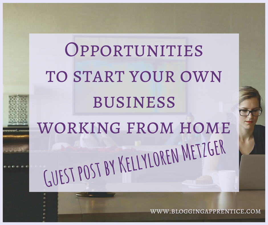 The best opportunities to start your own business from home - on bloggingapprentice.com!