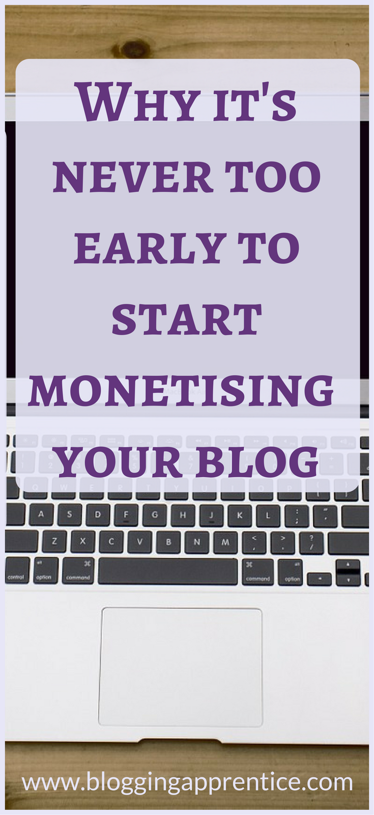 Why you shouldn't wait until you're big to start making money from your blog - on BloggingApprentice.com