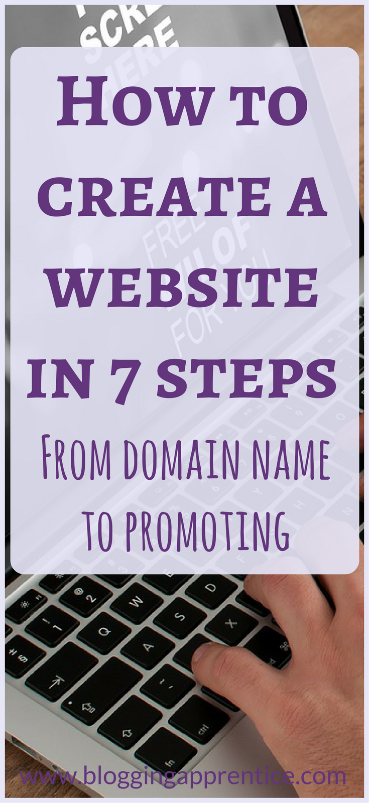 7 simple steps to set up your website - from choosing a domain name through hosting up to publishing and promoting it - read more on BloggingApprentice.com!