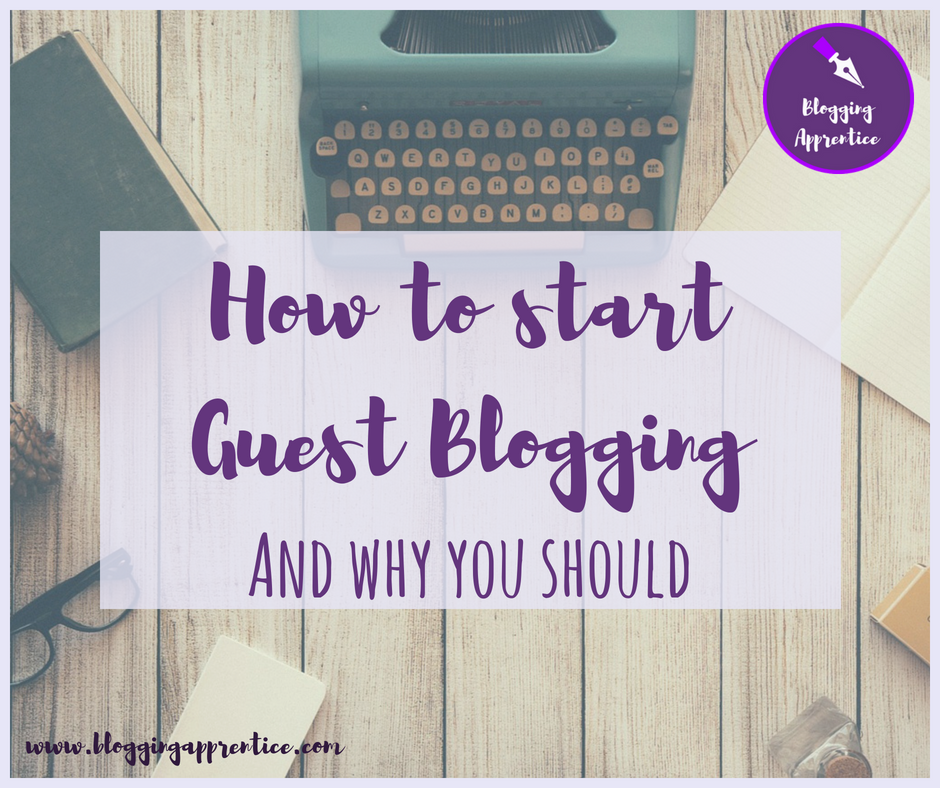 When you're starting a blog, writing guest blog posts for other blogs could be one great way to broaden your horizons. Read here why you should do it - and how to get started! - on BloggingApprentice.com
