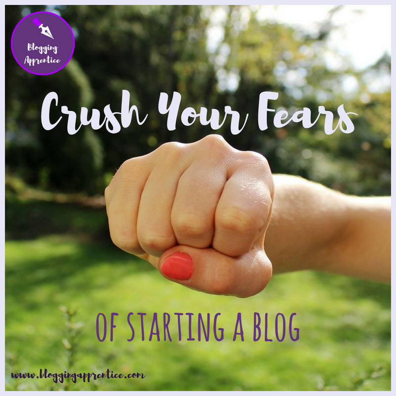 4 big questions that keep people from starting a blog - and how to answer them and crush the fear! @ BloggingApprentice.com