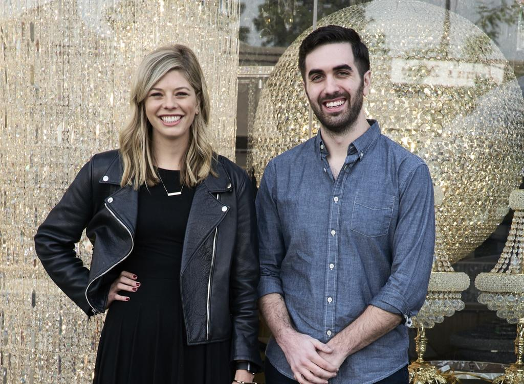 Megan O'Connor and Sam Gimbel, co-founders of Clark