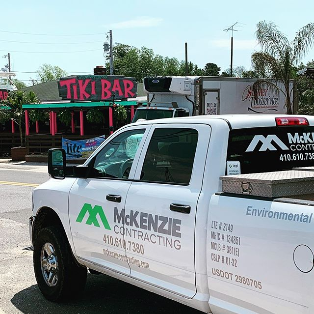 Helping repair sidewalks to get ready for Tiki Bar opening! Licensed Marine Contractor # 381E.