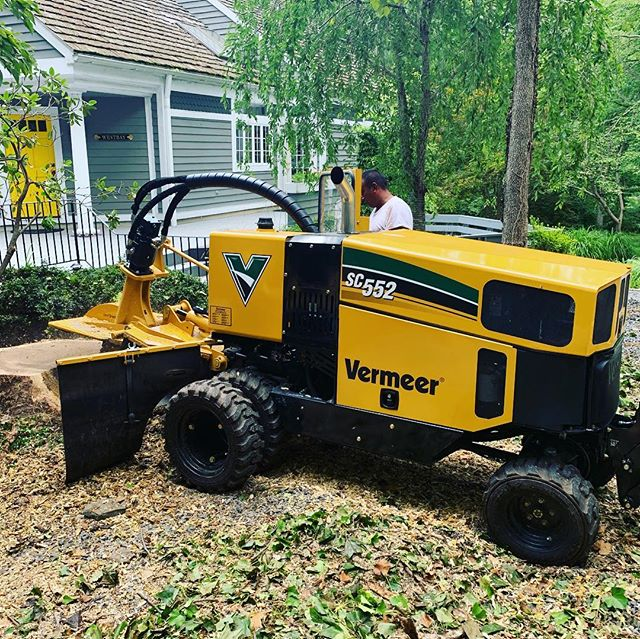 Check out our newest piece of equipment! 56 horse power stump grinder. Call us to get rid of new or old stumps!!