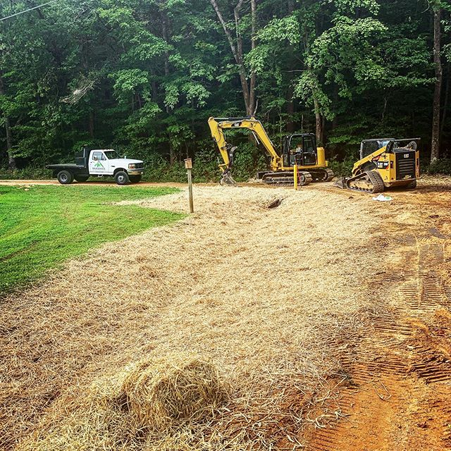 Replacing stormwater pipe and cutting in grass sealed for a new park coming soon to Calvert County! Got both the 289D and 308E2 working on this one. Chesapeake Bay Landscape Professional # 01-32. Licensed & Insured.