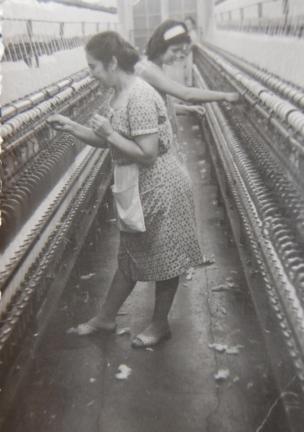 Im Spinnsaal, 1960er-Jahre  Gemeindearchiv Thüringen