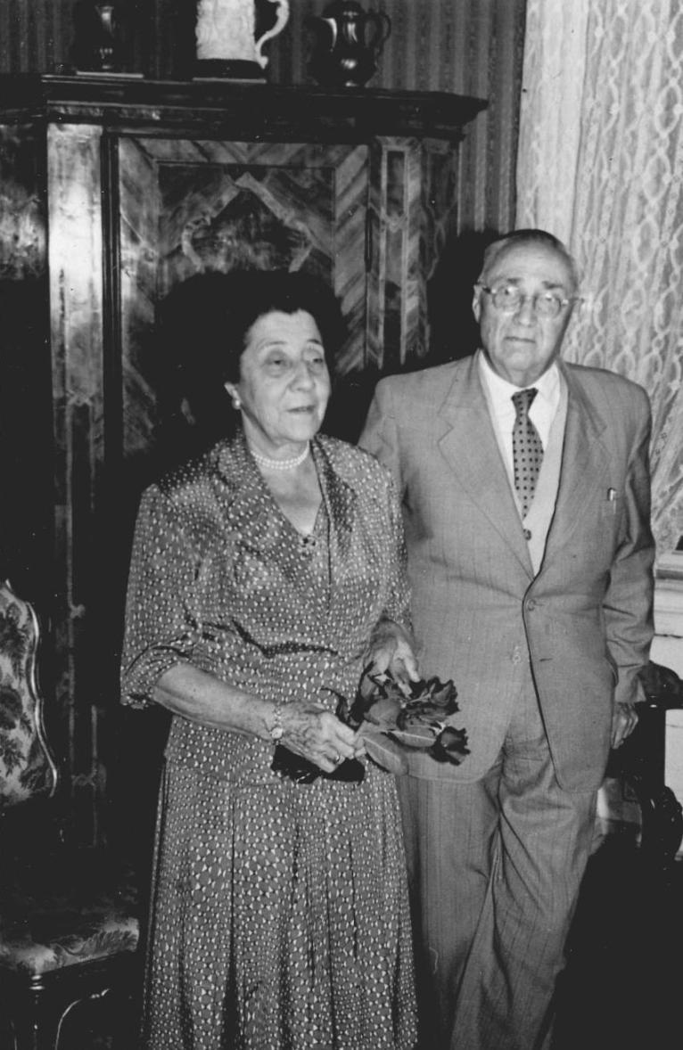 Stefanie und Rudolf Kastner im hohen Alter. Sie kamen bis 1963 regelmäßig von Wien nach Thüringen.  Foto um 1960 zur Verfügung gestellt von Familie Dittrich