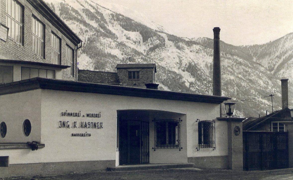 Haupteingang des Werks in Nassereith nach 1945  Foto nach 1945 zur Verfügung gestellt von Georg Kastner