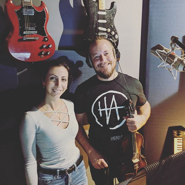 Jan Van Dyk bringing the feels on @its.hannahana 's new track. 🎻 . . . . . #violin #strings #recordingstudios #recording #headatlas #huntinggroundstudios #newmusic #brisbanemusic #sessionartist #janvandyk