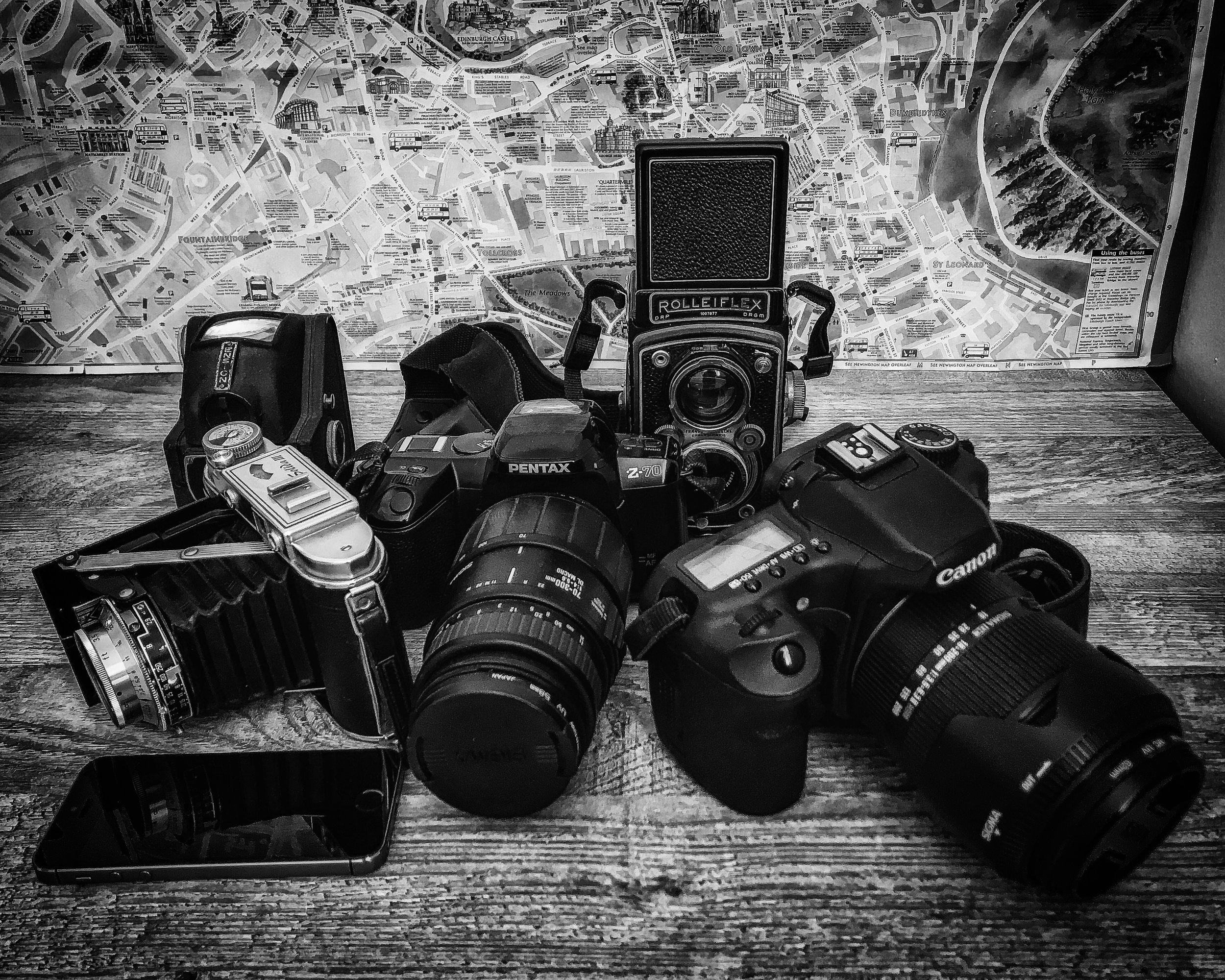 Edinburgh Photography Walking Tours Cameras