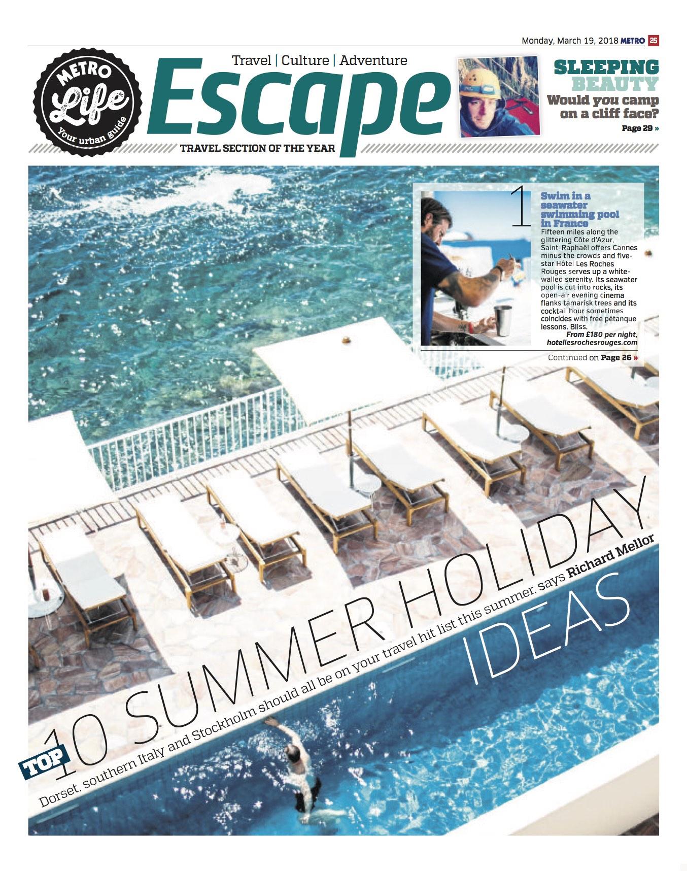 Metro - Top 10 Summer Holidays - Mar 2018.jpg