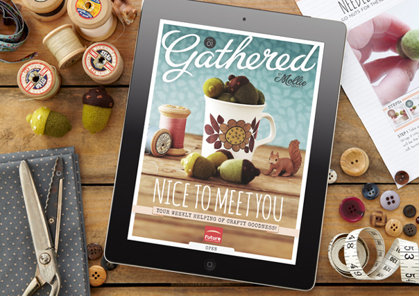 Editor, Gathered By Mollie Makes. A weekly digital sister magazine to Mollie Makes. Role included: Co-creating publication, planning, commissioning, writing, editing and styling.