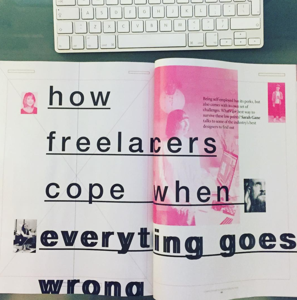 In-depth feature on freelancing in the creative industries: Computer Arts magazine issue 283, published August 2018. Featuring practical advice from some of the best graphic designers and illustrators working today: Barbara Dziadosz, Beci Orpin, Benny Gold, Francesca Tortora, Jessica Hische and Palehorse Design (Chris Parks).