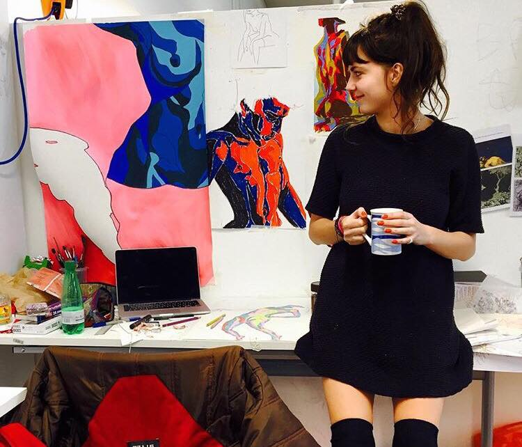 Leila in her previous studio in Bristol, April 2017.