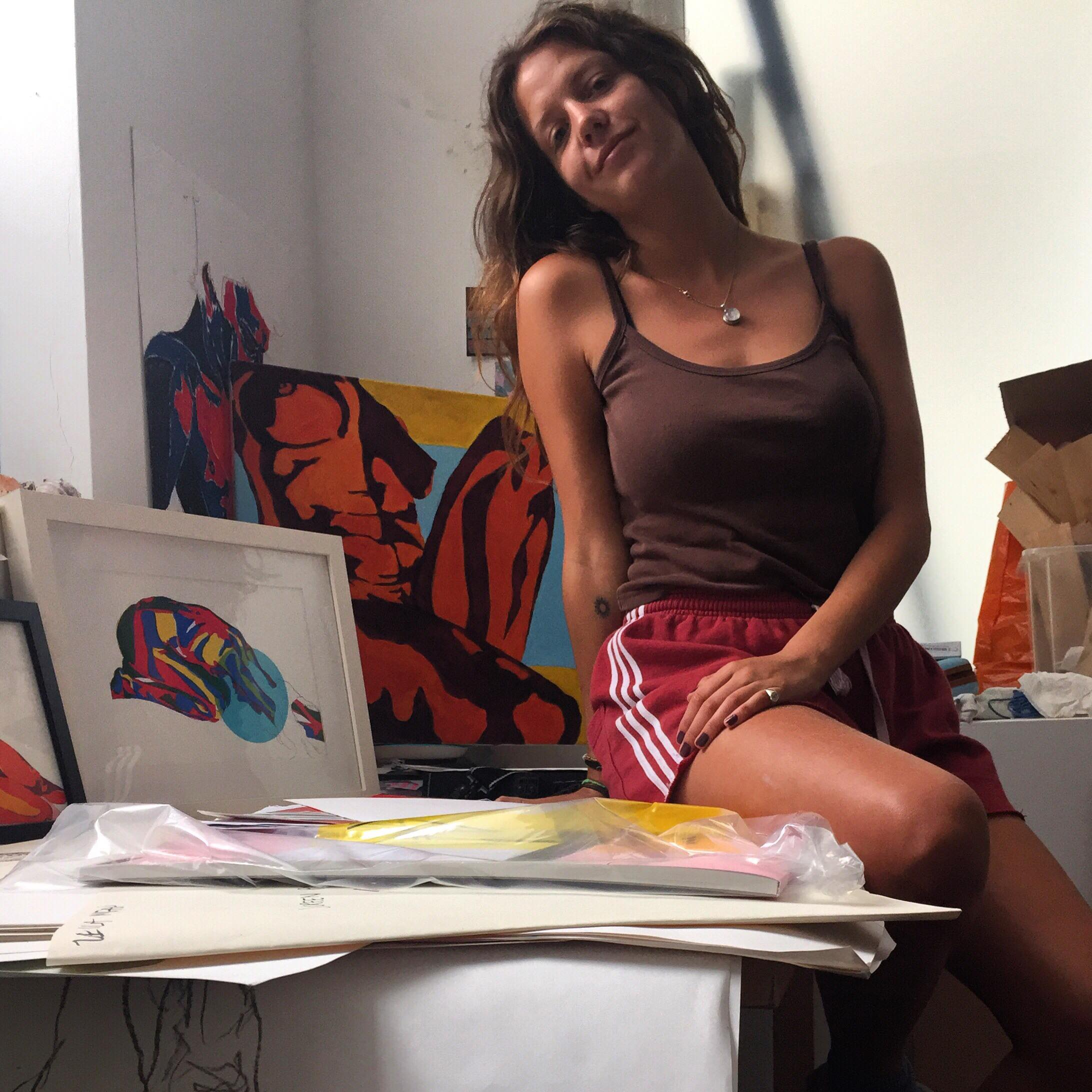 Leila in her studio in South East London