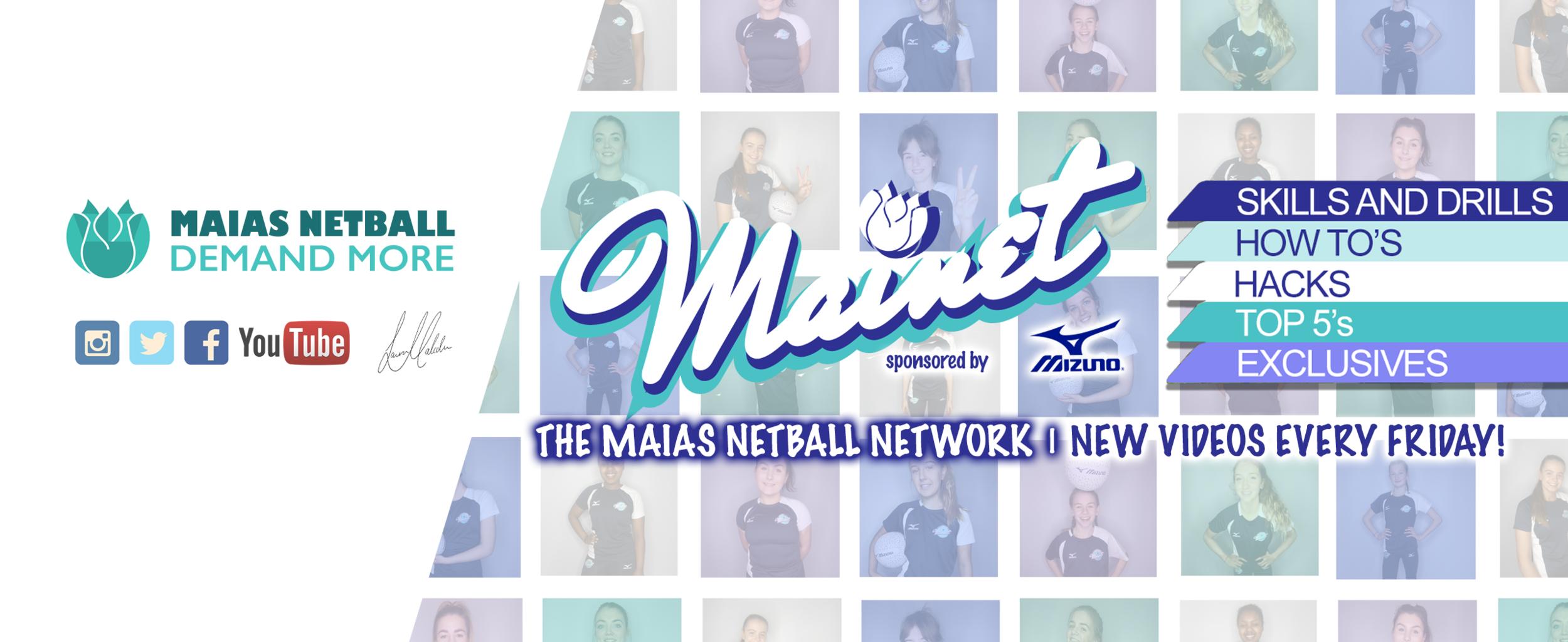 Mizuno Netball supporting Maias Netball & The Maias Netball Network (Mainet)