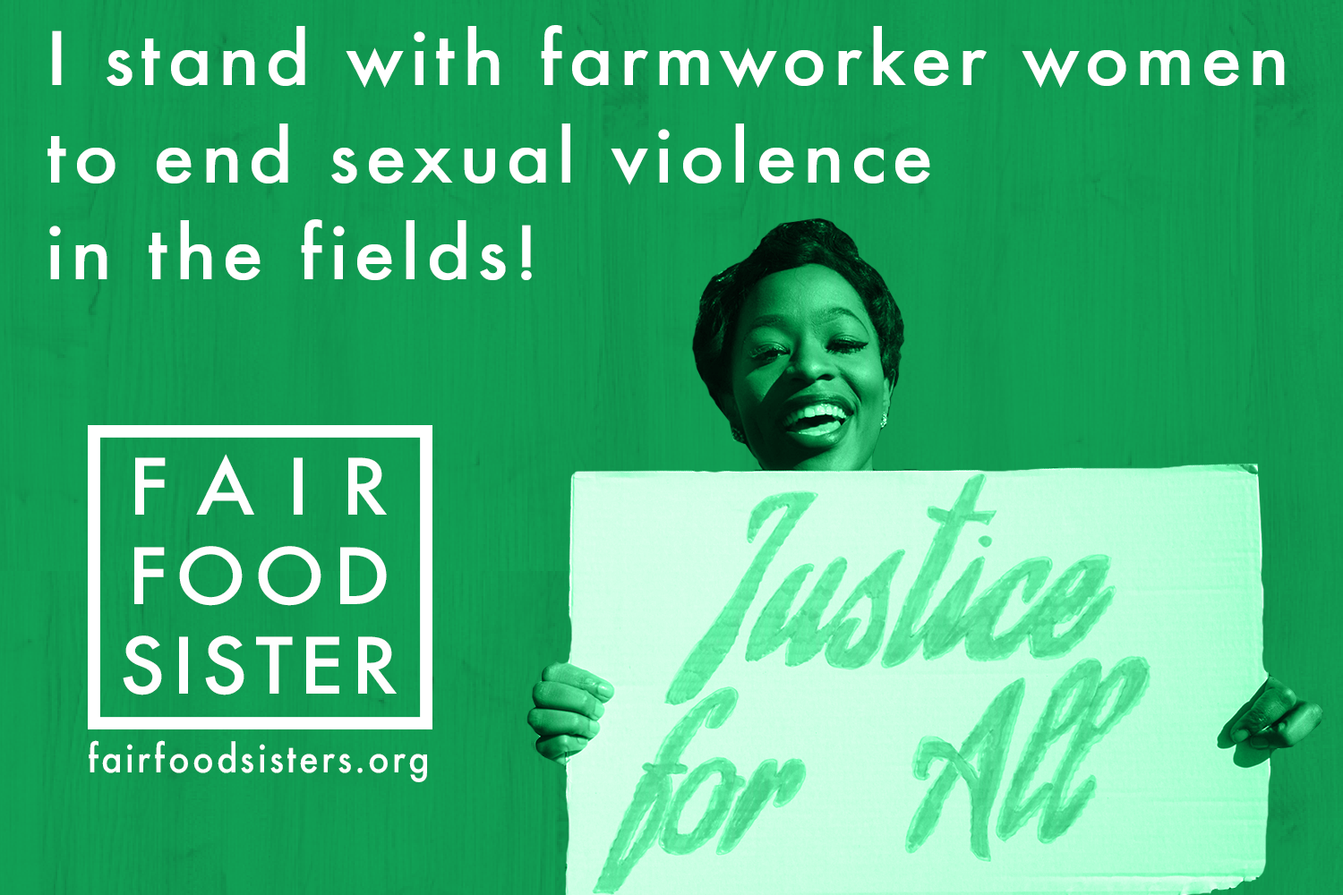 Click to Tweet - .@Wendys: 80% of farmworker women face sexual violence at work. Be a part of the solution! #FairFoodSister