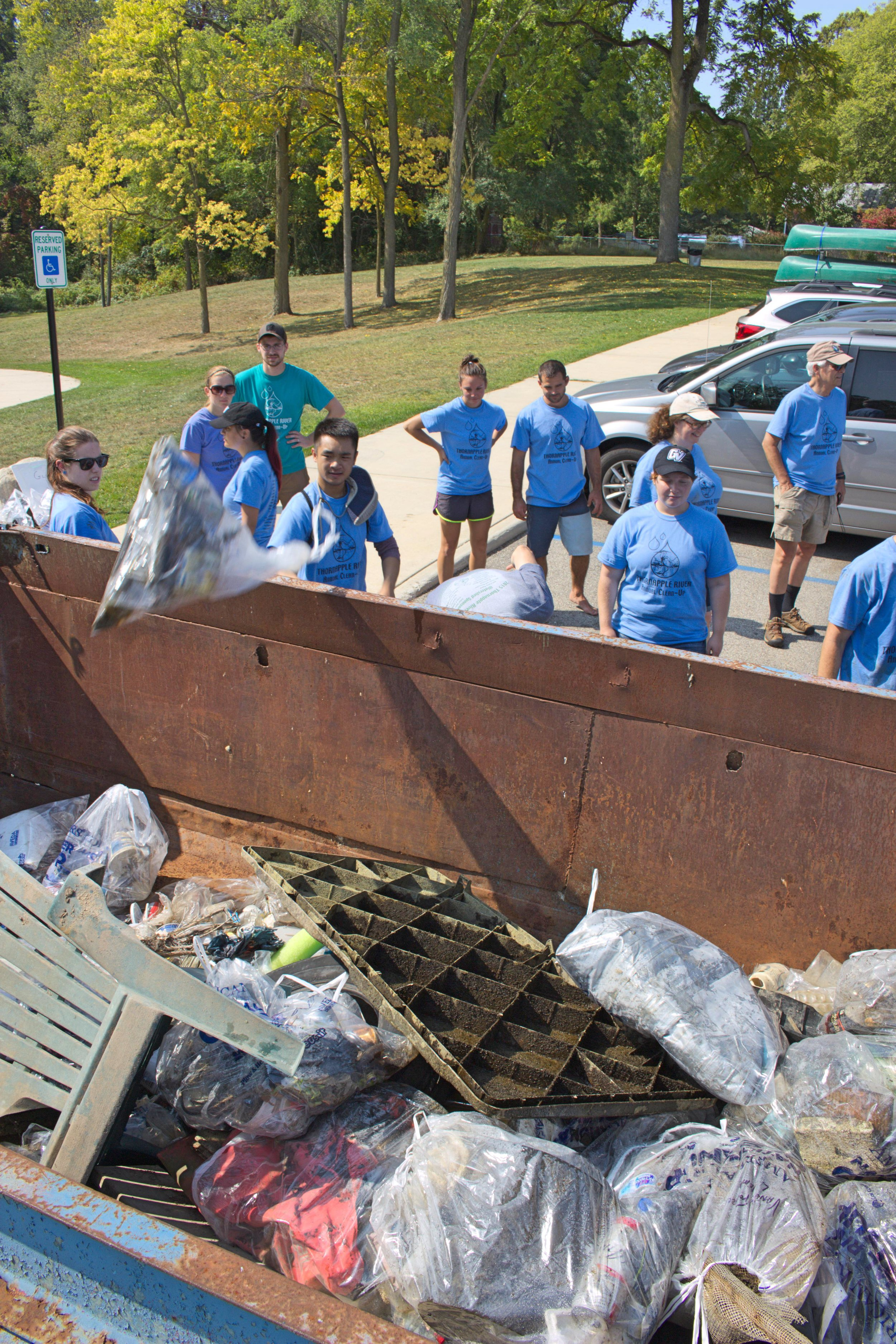 According to Steketee, the group finds less and less garbage each year, which is great. This year they found a bit more than last year, but it was attributed to the low water-level and clear water making the trash easier to find. After the clean-up, the group tucked into a free lunch provided by local businesses who appreciate the group's work.