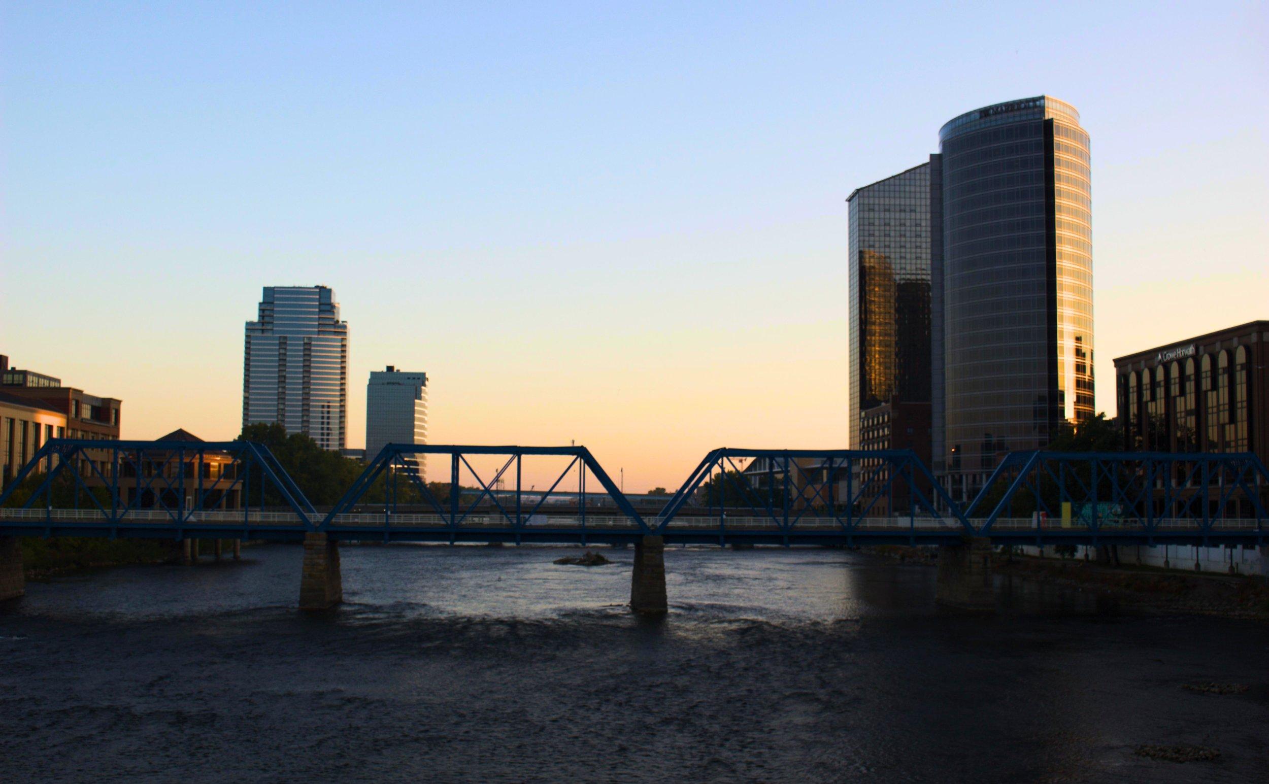 From the Fulton Street bridge
