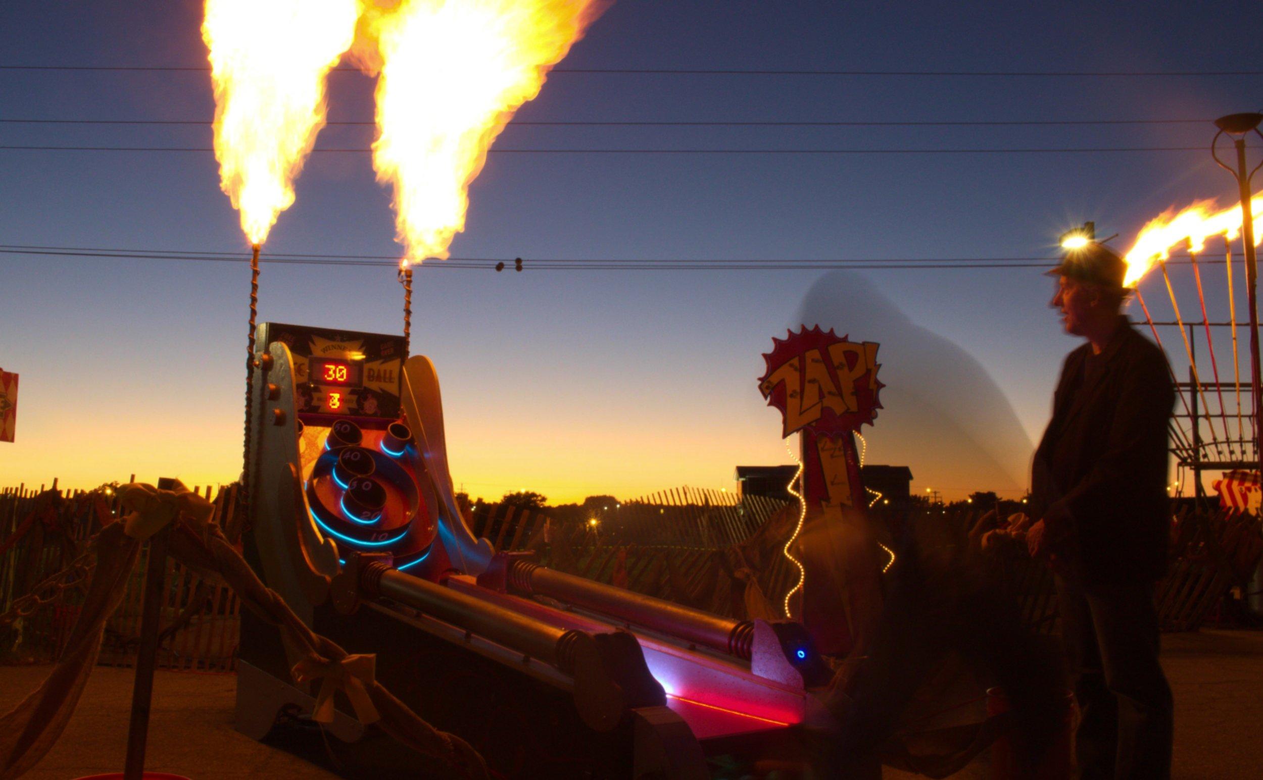 Flaming Skee Ball