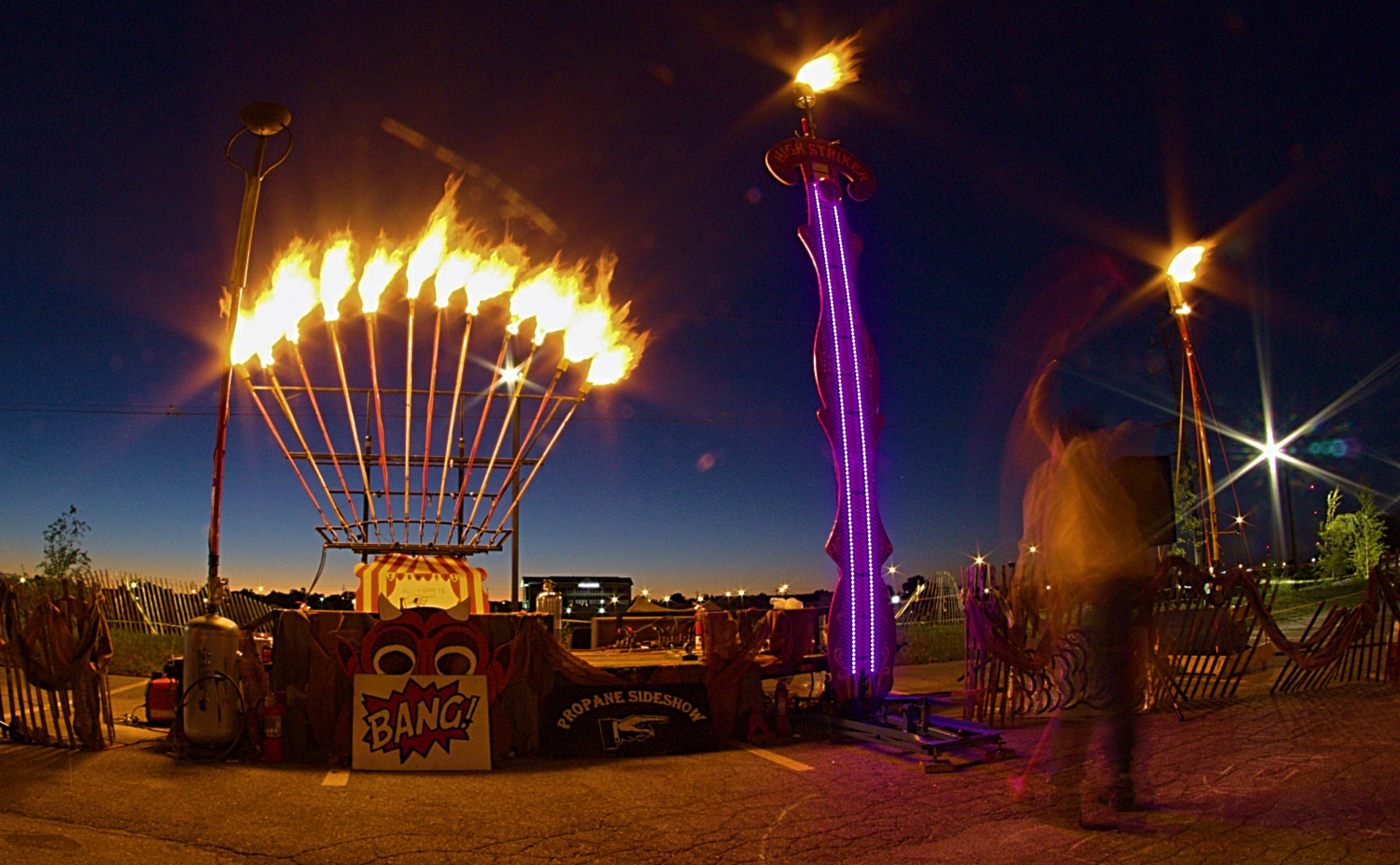 Dropping the hammer at the Flaming Carnival