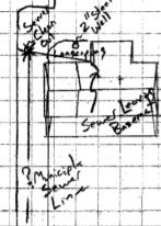 A portion of the site drawing on file for Resseguie's property.
