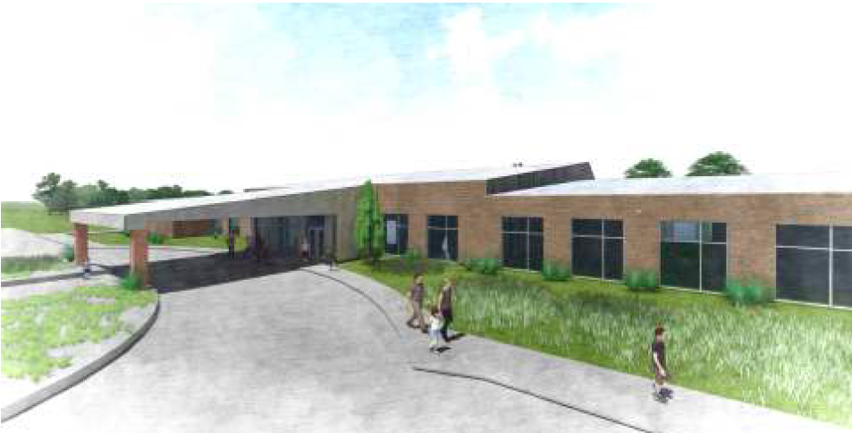 View of proposed building for the 109 Church of Christ