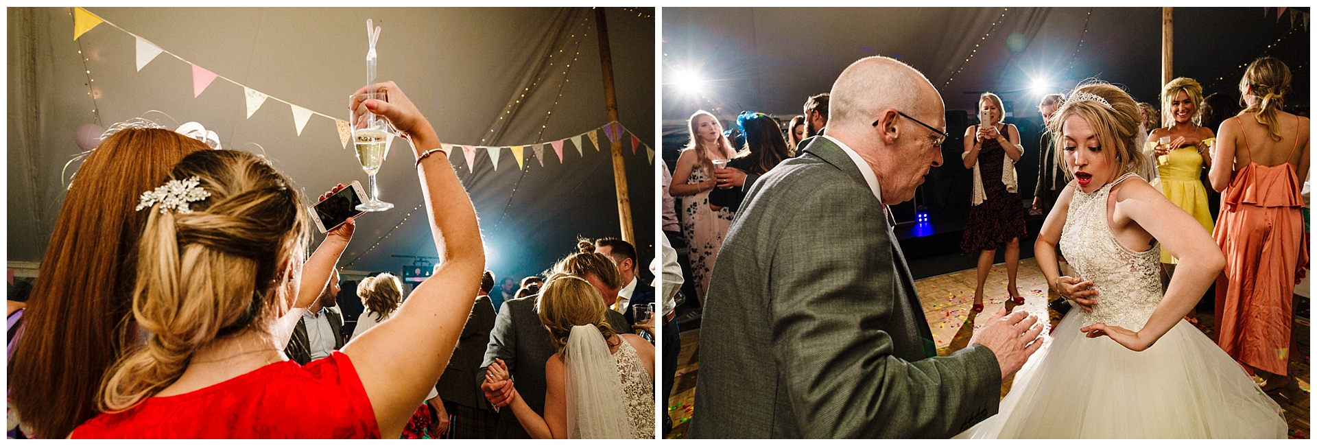 a bride dancing with her dad