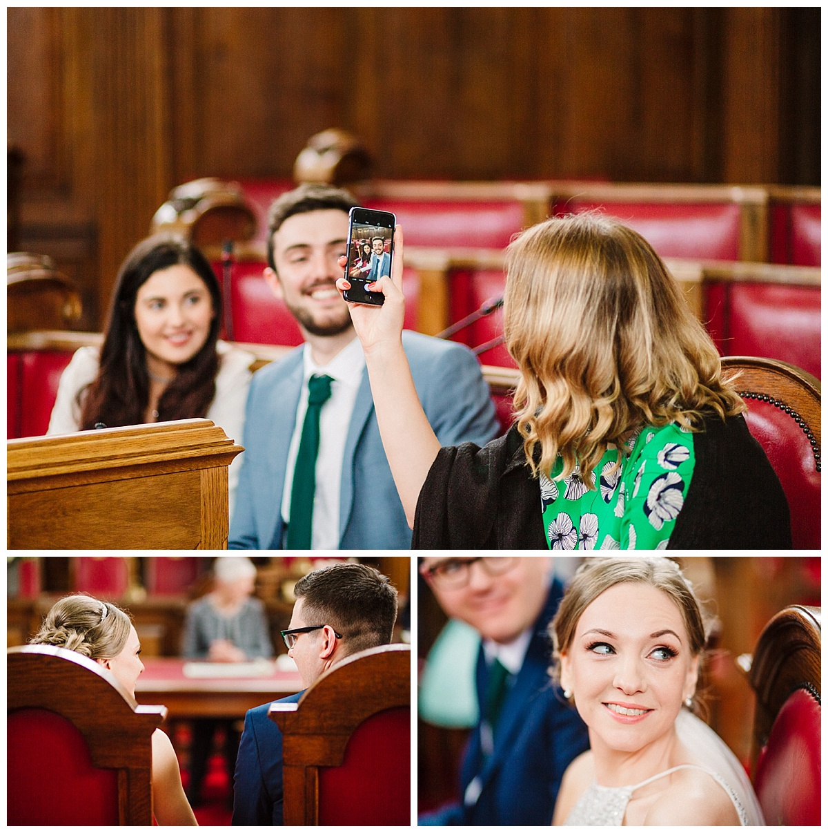 a wedding in the council chamber room at islington town hall