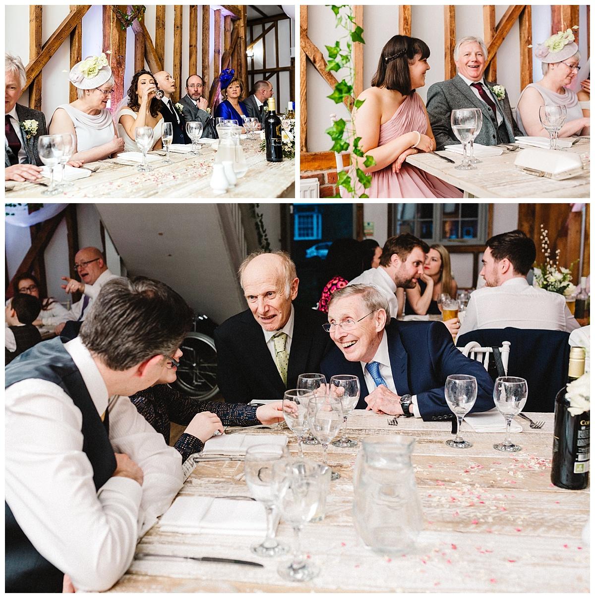 guests at a wedding at milling barn