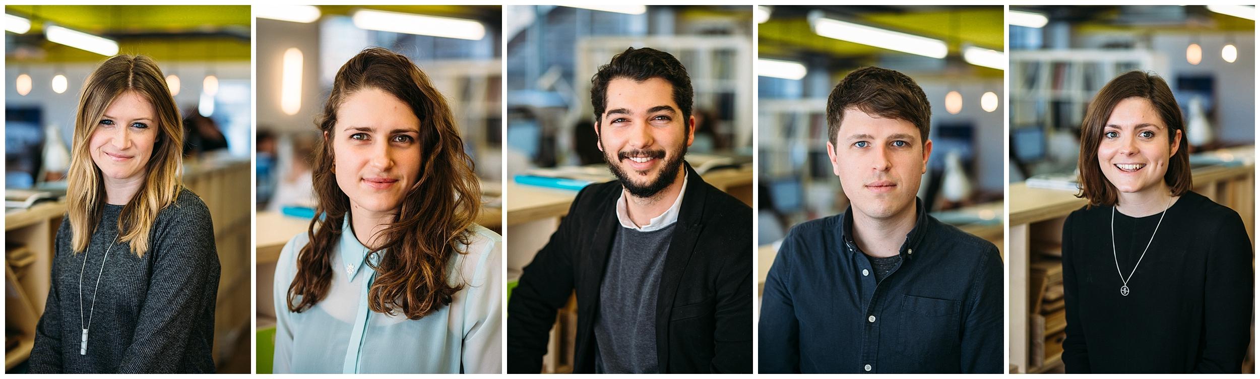 Staff portraits for Tigg Coll Architects