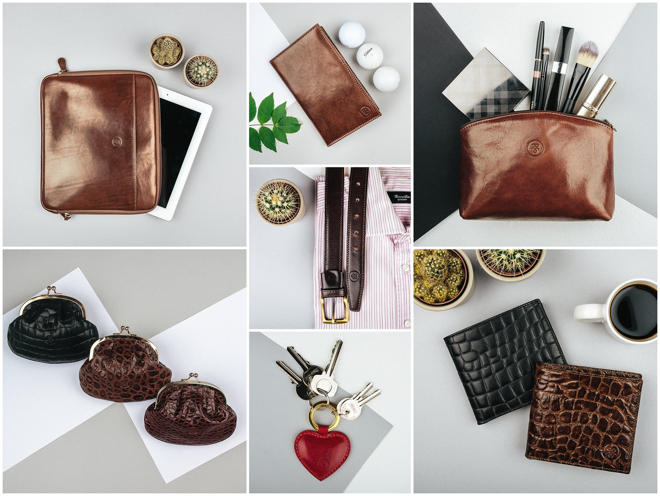 Product photography for Maxwell Scott