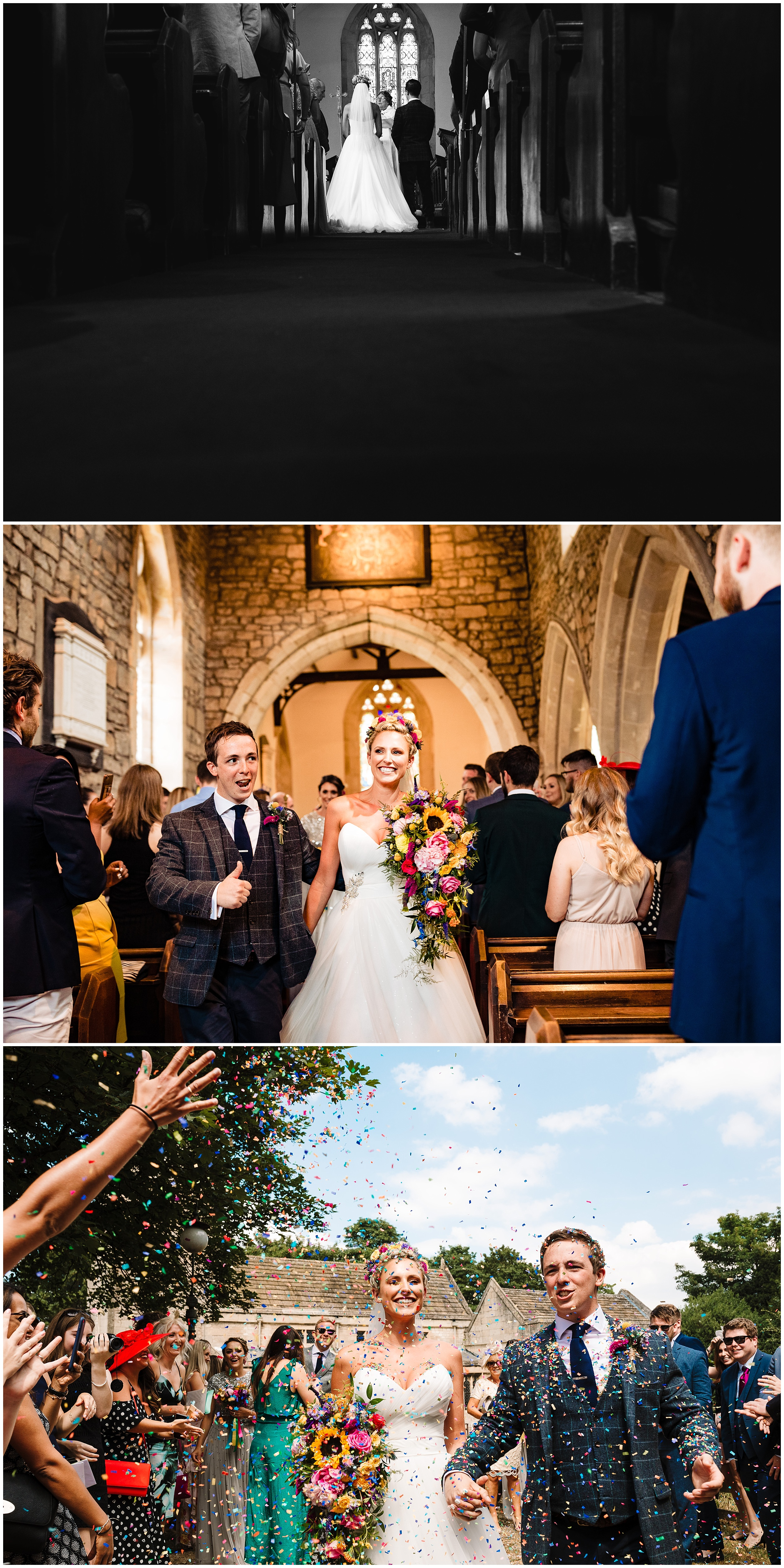 a bride and groom getting married in yorkshire