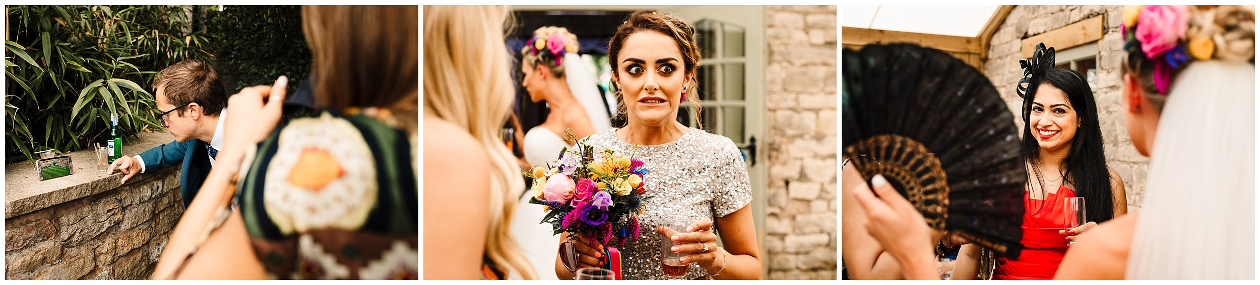 guests at a farm wedding in yorkshire
