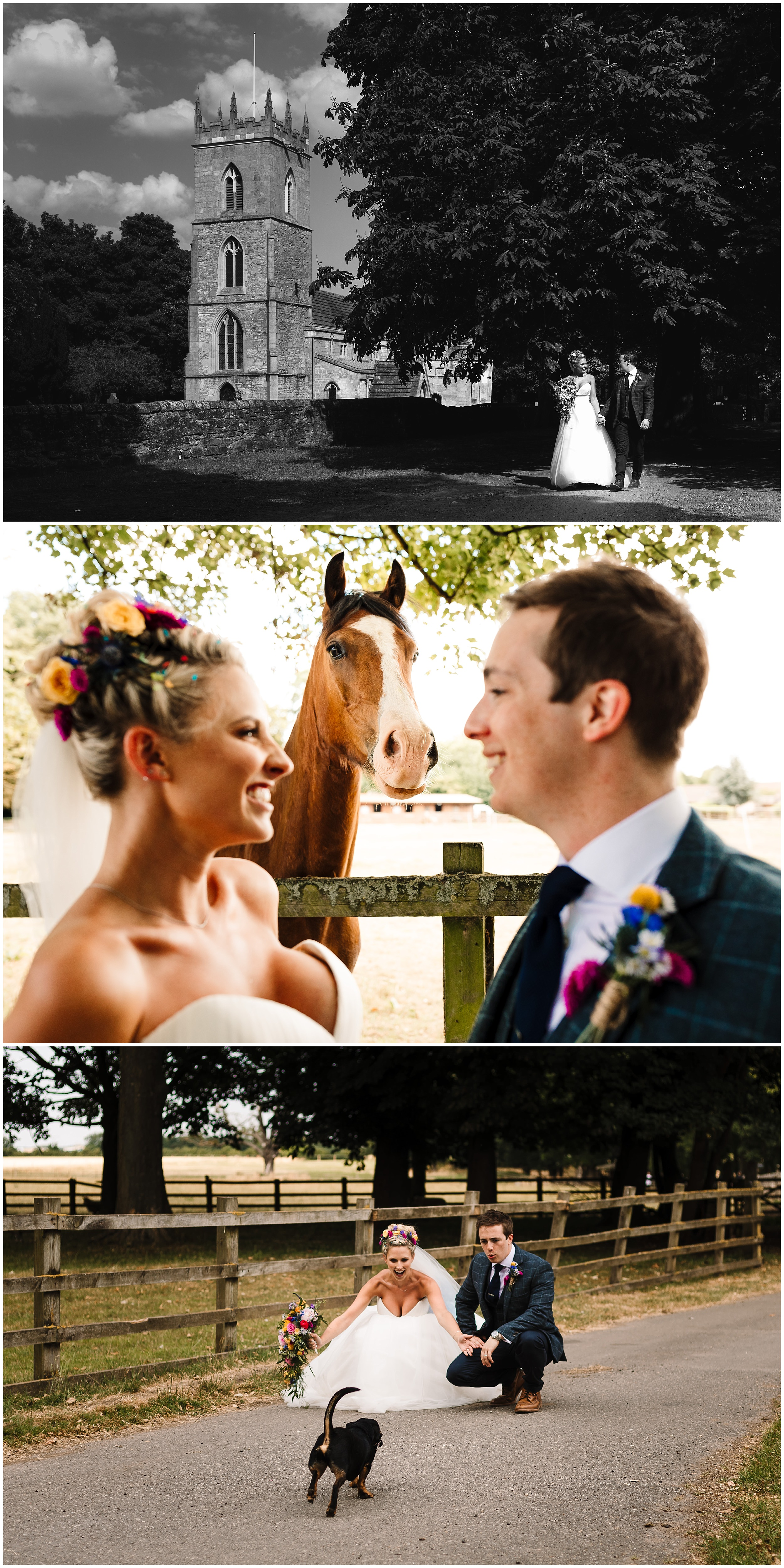 A bride and groom at their wedding at Loversall Farm in Doncaster
