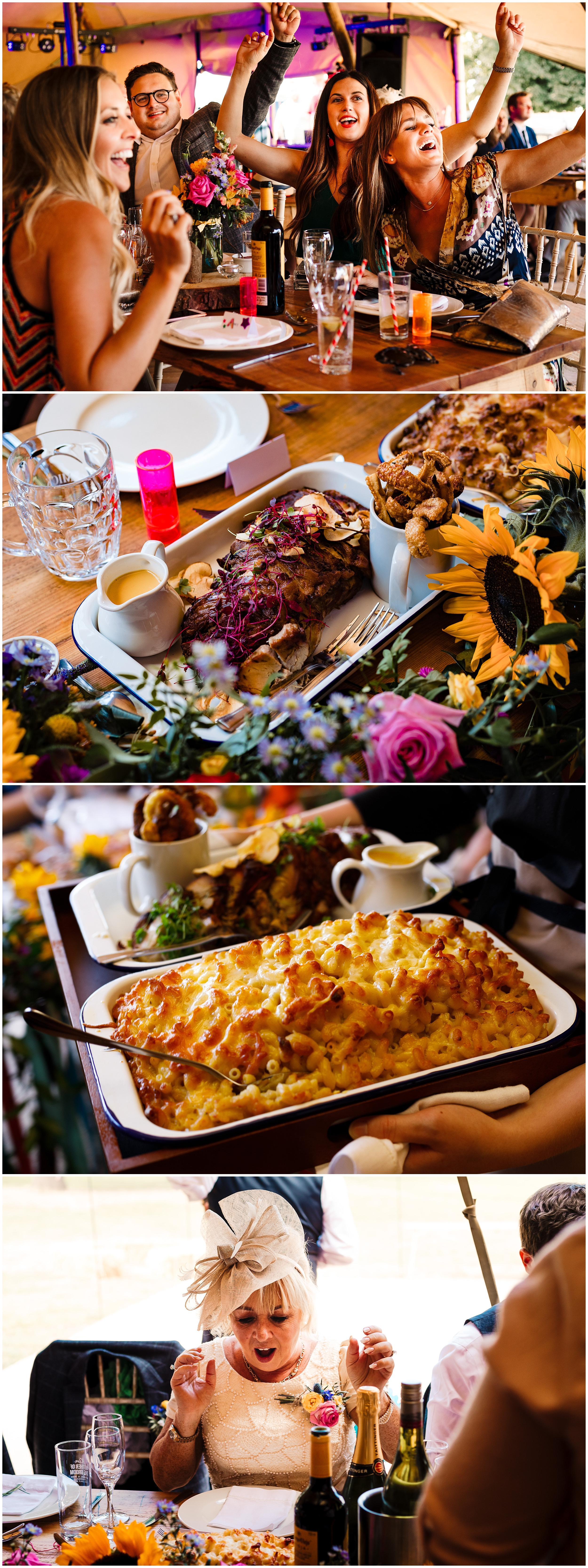 wedding food in yorkshire