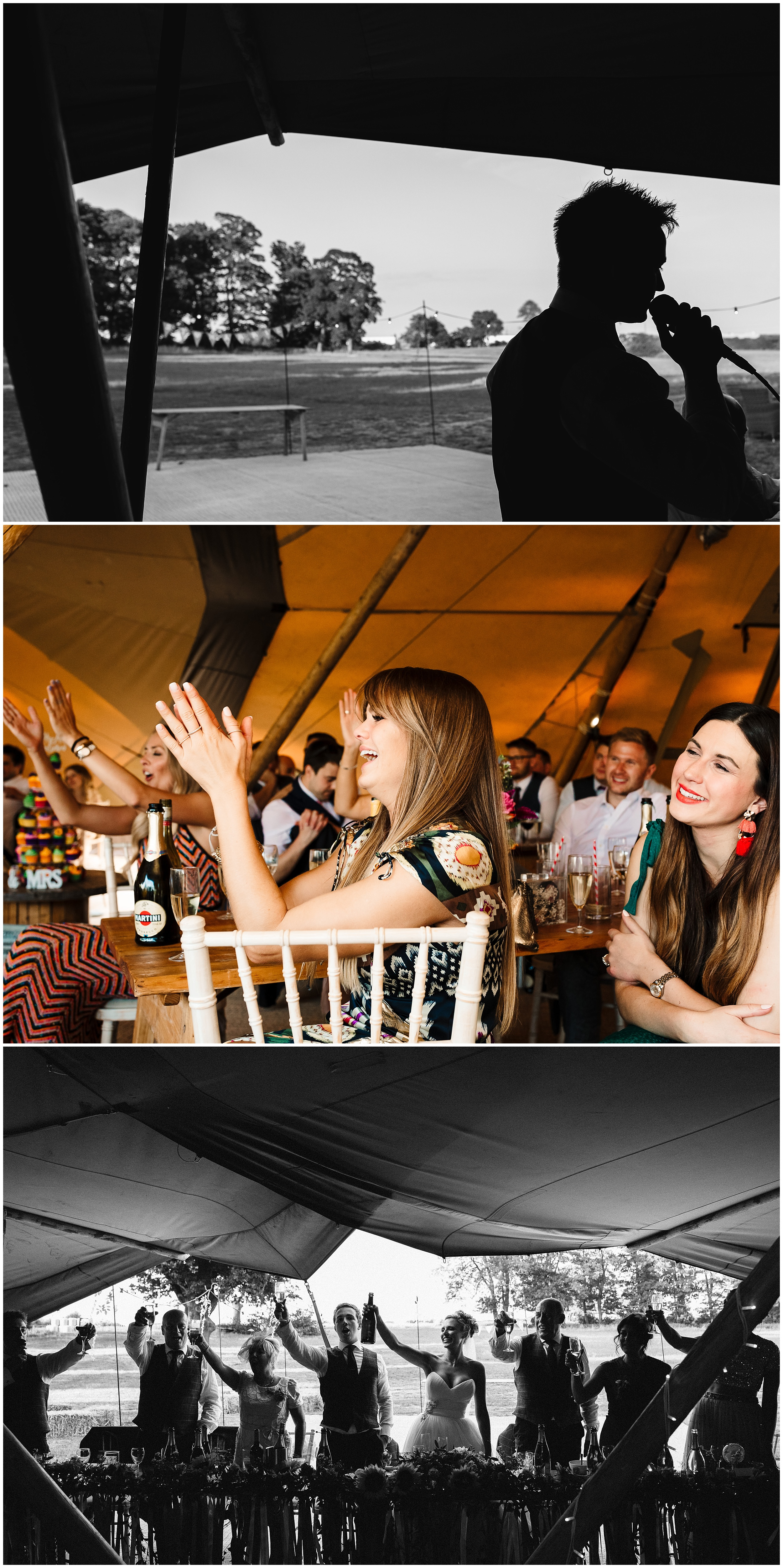 speeches at a tipi wedding in yorkshire