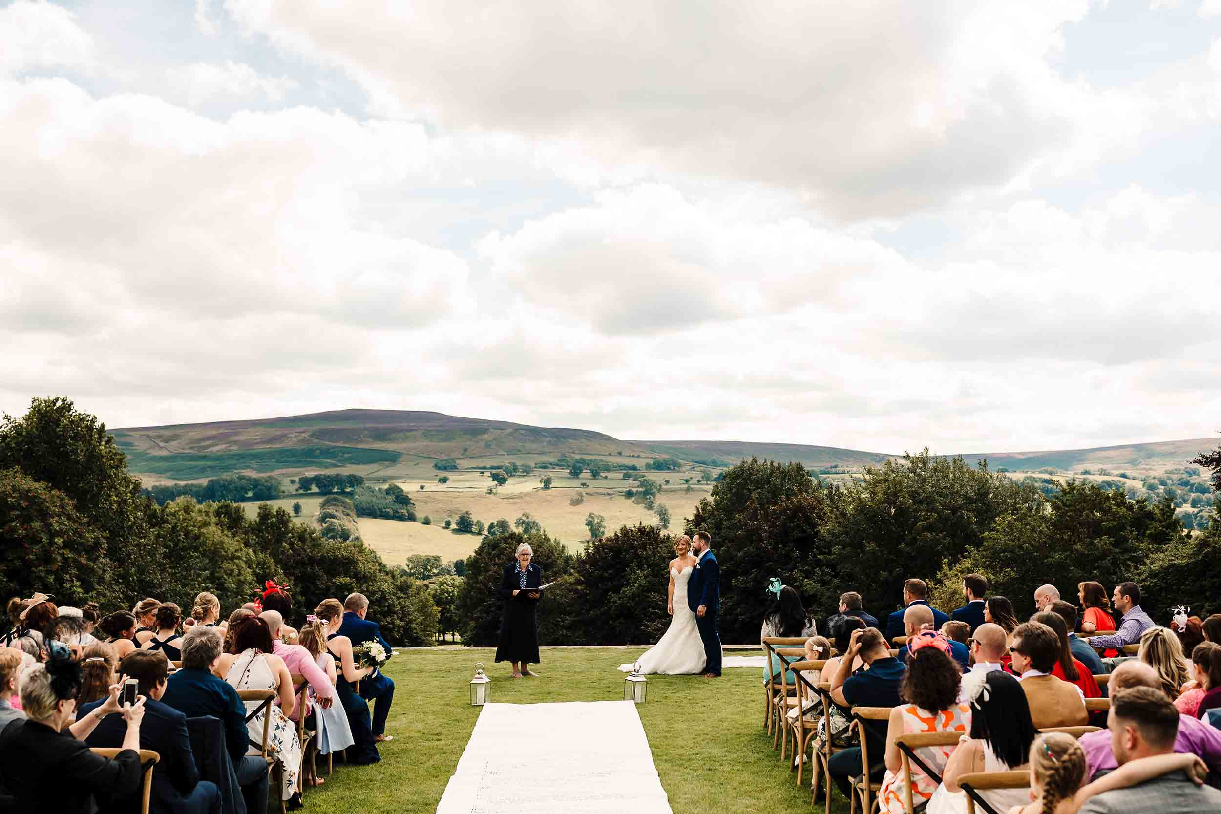 an outdoor wedding ceremony in north yorkshire